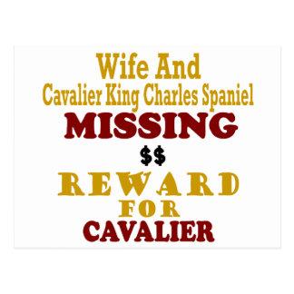 Rey arrogante Charles y recompensa que falta de la Postal