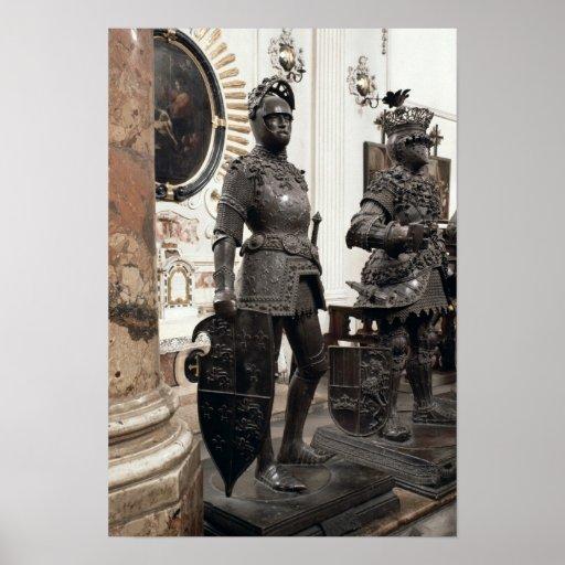 Rey Arturo, estatua de la tumba de Maximiliano Póster