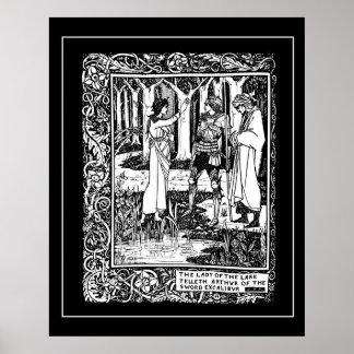 Rey Arturo Excalibur Poster de Beardsley