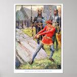 Rey Arturo extrae la espada de la piedra Impresiones