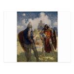 Rey Arturo y castillo Tarjetas Postales