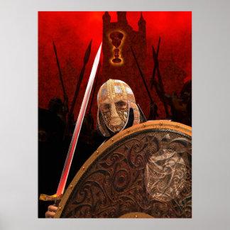 Rey Arturo y el Gral santo Poster