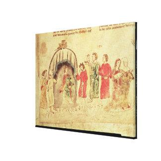 Rey Arturo y su corte, del romano Impresión De Lienzo