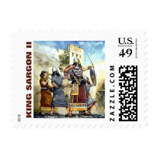 rey asirio sello postal