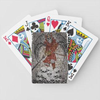 Rey asustadizo de piedra de la tumba baraja de cartas bicycle