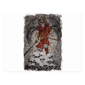 Rey asustadizo de piedra de la tumba postal
