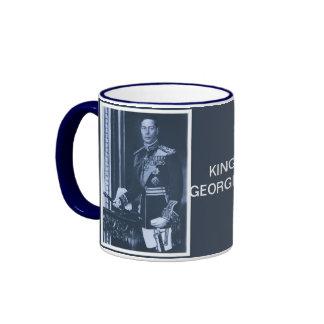 rey (aumentado) George VI del Reino Unido Taza De Dos Colores
