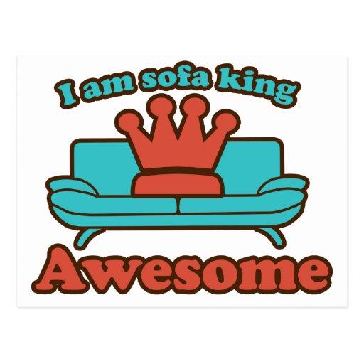 Rey Awesome del sofá Postal