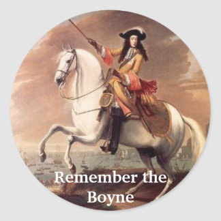 Rey Billy, recuerda el Boyne Pegatina Redonda
