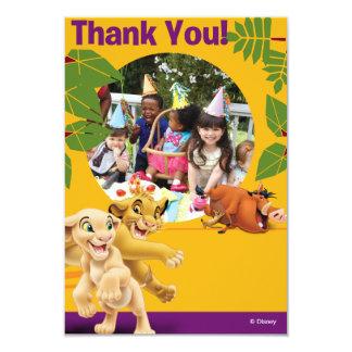 """Rey Birthday Thank You Cards del león Invitación 3.5"""" X 5"""""""