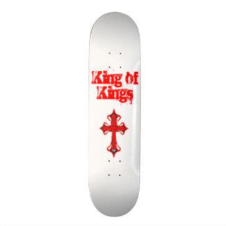 Rey blanco de reyes Skateboard Deck Monopatines Personalizados