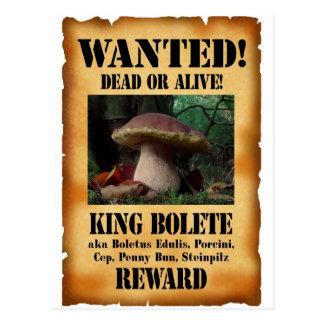 Rey Bolete - muertos o vivo queridos Postal