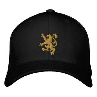 Rey bordado león de oro de reyes Cap Gorras Bordadas