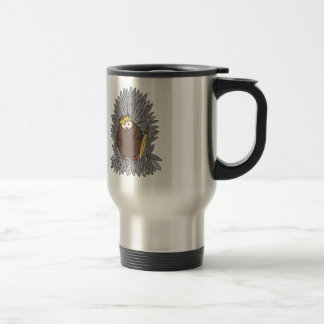 Rey bruto conseguido del búho de pitido taza térmica