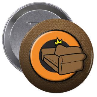 Rey Button del sofá Pin Redondo De 4 Pulgadas