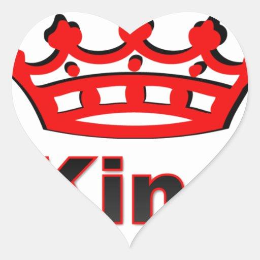 rey calcomanía de corazón