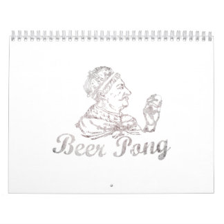 Rey Calendar de Pong de la cerveza Calendario
