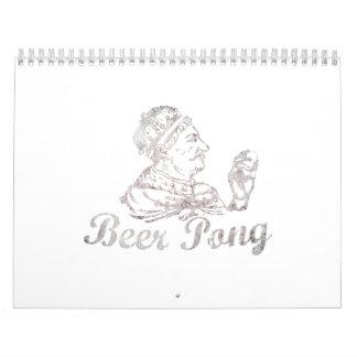 Rey Calendar de Pong de la cerveza Calendarios