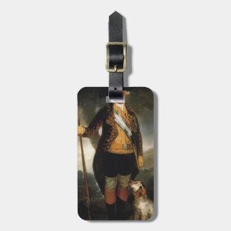 Rey Carlos de Francisco Goya- IV en traje de la ca Etiqueta Para Maleta