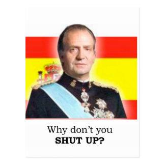 """Rey Carlos de HRM de España: ¿""""Por qué usted no Postal"""