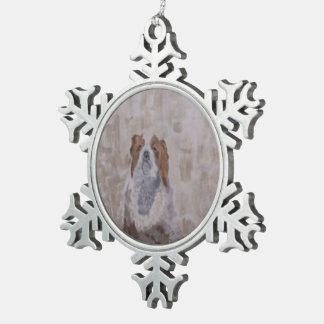 Rey Cavalier Spaniel Adorno De Peltre En Forma De Copo De Nieve