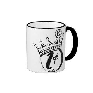 Rey Cent Logo Mug Taza De Dos Colores