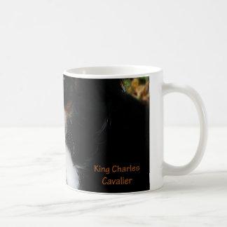 Rey Charles Cavalier Spaniel Mug Taza Básica Blanca