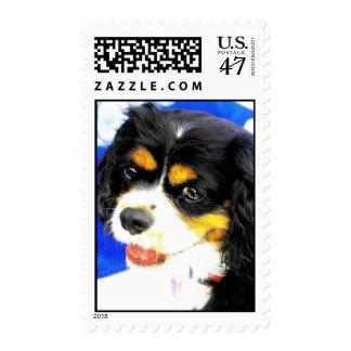 Rey Charles Cavalier Stamp Estampilla