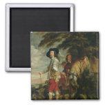 Rey Charles I de Inglaterra hacia fuera que caza,  Imanes De Nevera