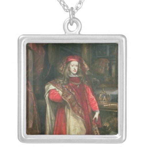 Rey Charles II de España Colgante Cuadrado
