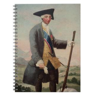 Rey Charles III (1716-88) como Huntsman, 1786/88 Libro De Apuntes