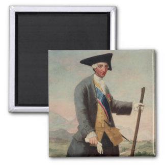 Rey Charles III (1716-88) como Huntsman, 1786/88 Imán Cuadrado