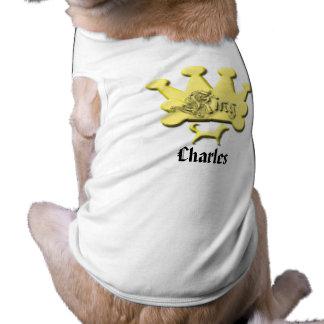 Rey Charles - Name de rey Your Dog's Playera Sin Mangas Para Perro