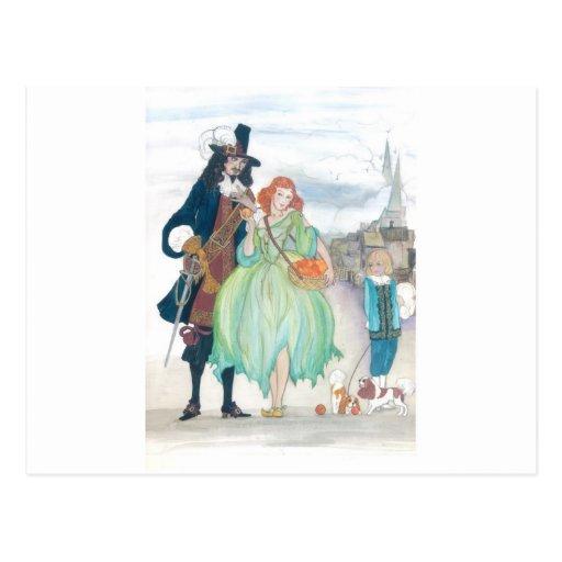 Rey Charless II y Nell Gywn Tarjeta Postal