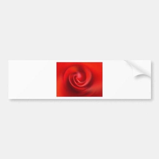 Rey color de rosa precioso de los pétalos rojos co etiqueta de parachoque