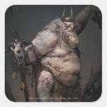 Rey Concept del Goblin Pegatina Cuadrada