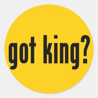 ¿rey conseguido? pegatina redonda