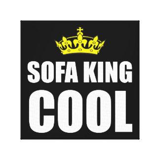 Rey Cool del sofá Impresiones De Lienzo
