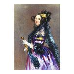 Rey Countess del Ada de Lovelace de Alfred Chalon Impresión De Lienzo