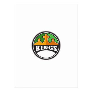Rey Crown rey Circle Retro Tarjeta Postal