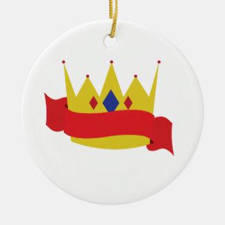 Rey Crown Ribbon Ornamentos De Navidad