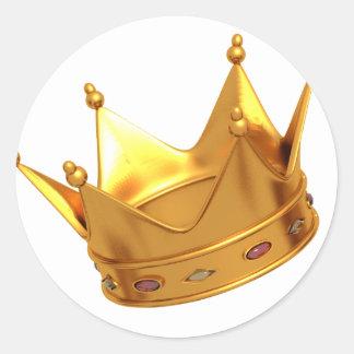 Rey Crown Sticker Pegatina Redonda