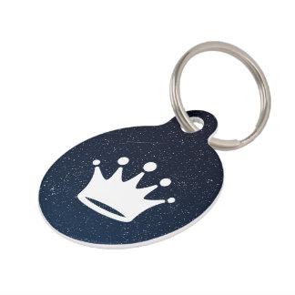 Rey Crowns Symbol Identificador Para Mascotas