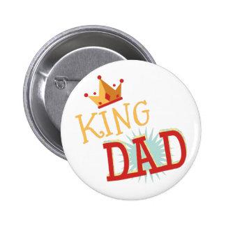 Rey Dad Pin Redondo De 2 Pulgadas