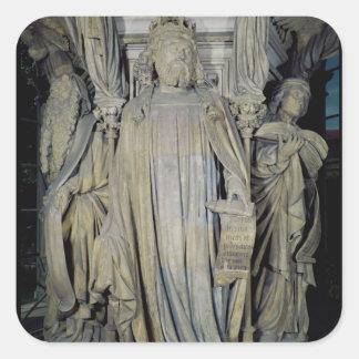Rey David, Moses y Jeremiah Pegatina Cuadrada