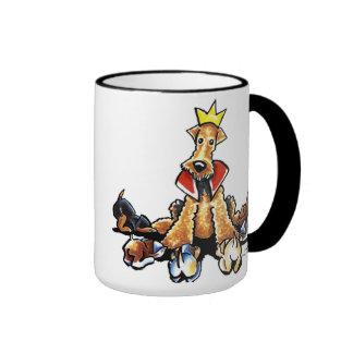 Rey de Airedale de terrieres Tazas De Café