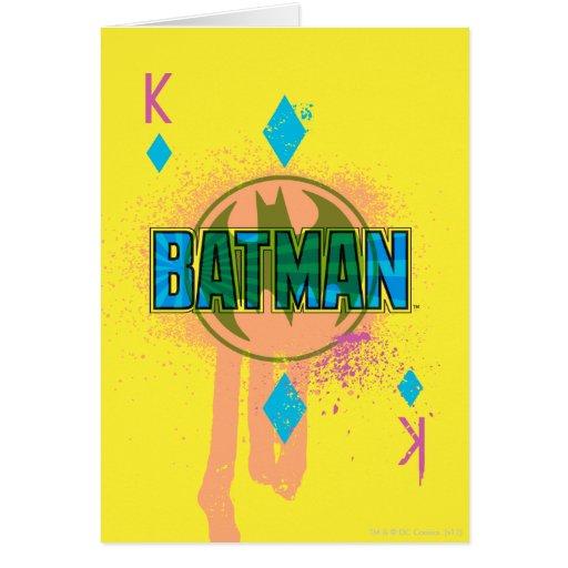 Rey de Batman de diamantes Tarjeta De Felicitación