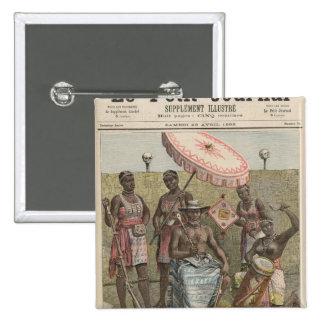 Rey de Behanzin de Dahomey Pin Cuadrado