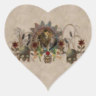 Rey de bestias calcomania corazon