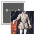 Rey de Charles IX de Francia Pin Cuadrado